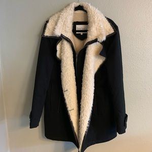 Rachel Roy Wool and Sherpa Lined Coat - XL